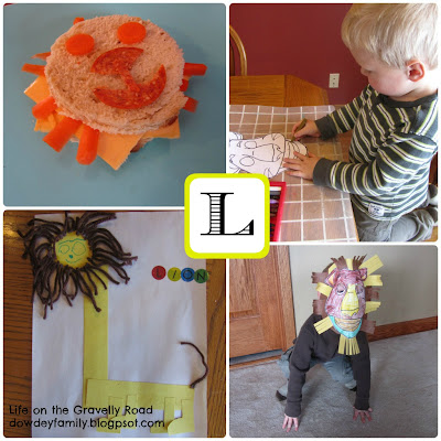 Lion crafts, mask and sandwich