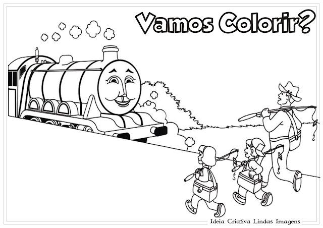 Desenho Thomas e seus amigos colorir