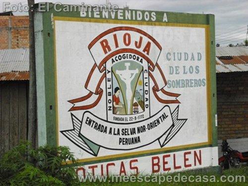 Bienvenida a la ciudad de Rioja (Perú), camino a Tioyacu