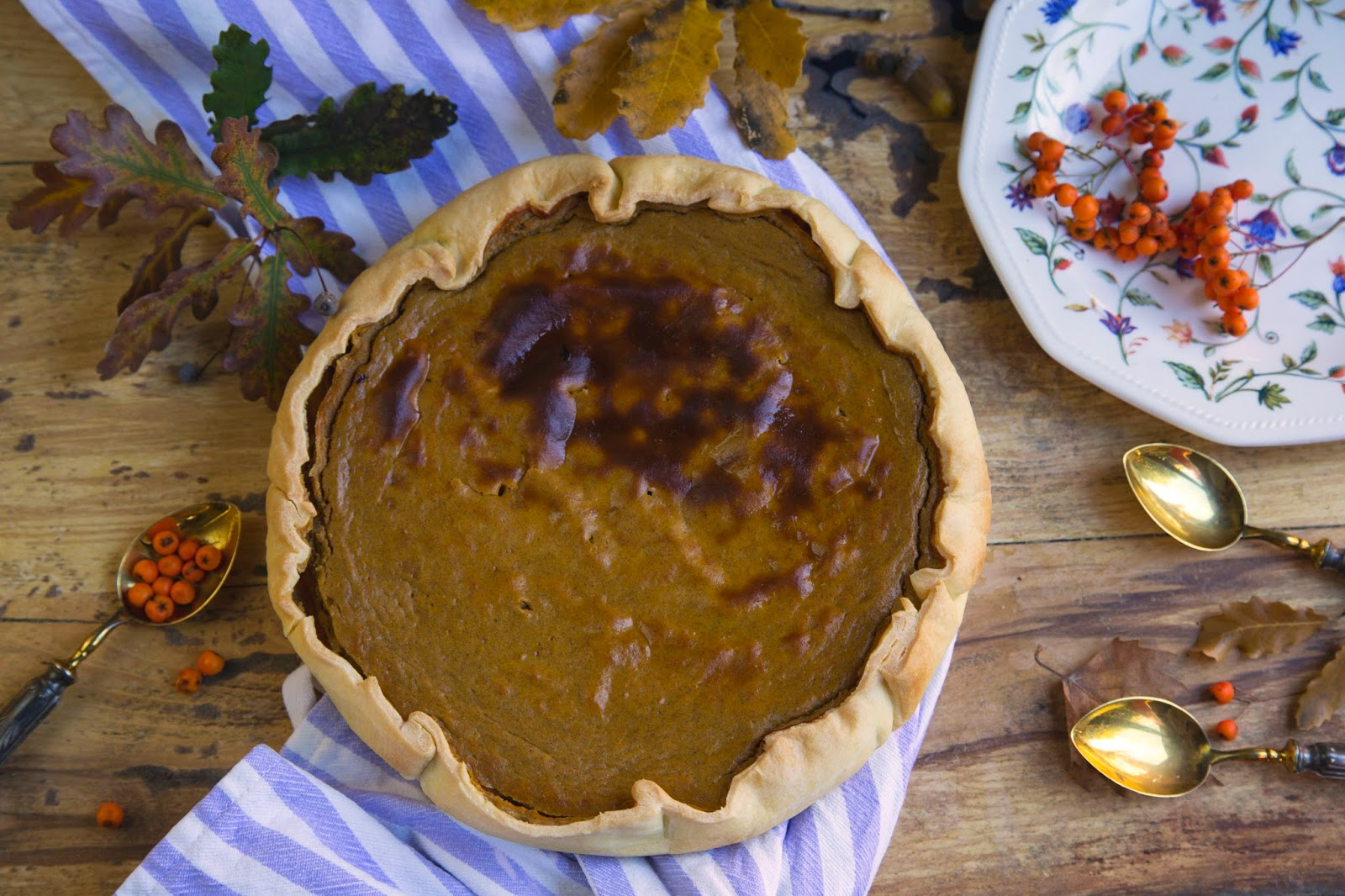 Pumpkin pie Tarta de Calabaza Thanksgiving day