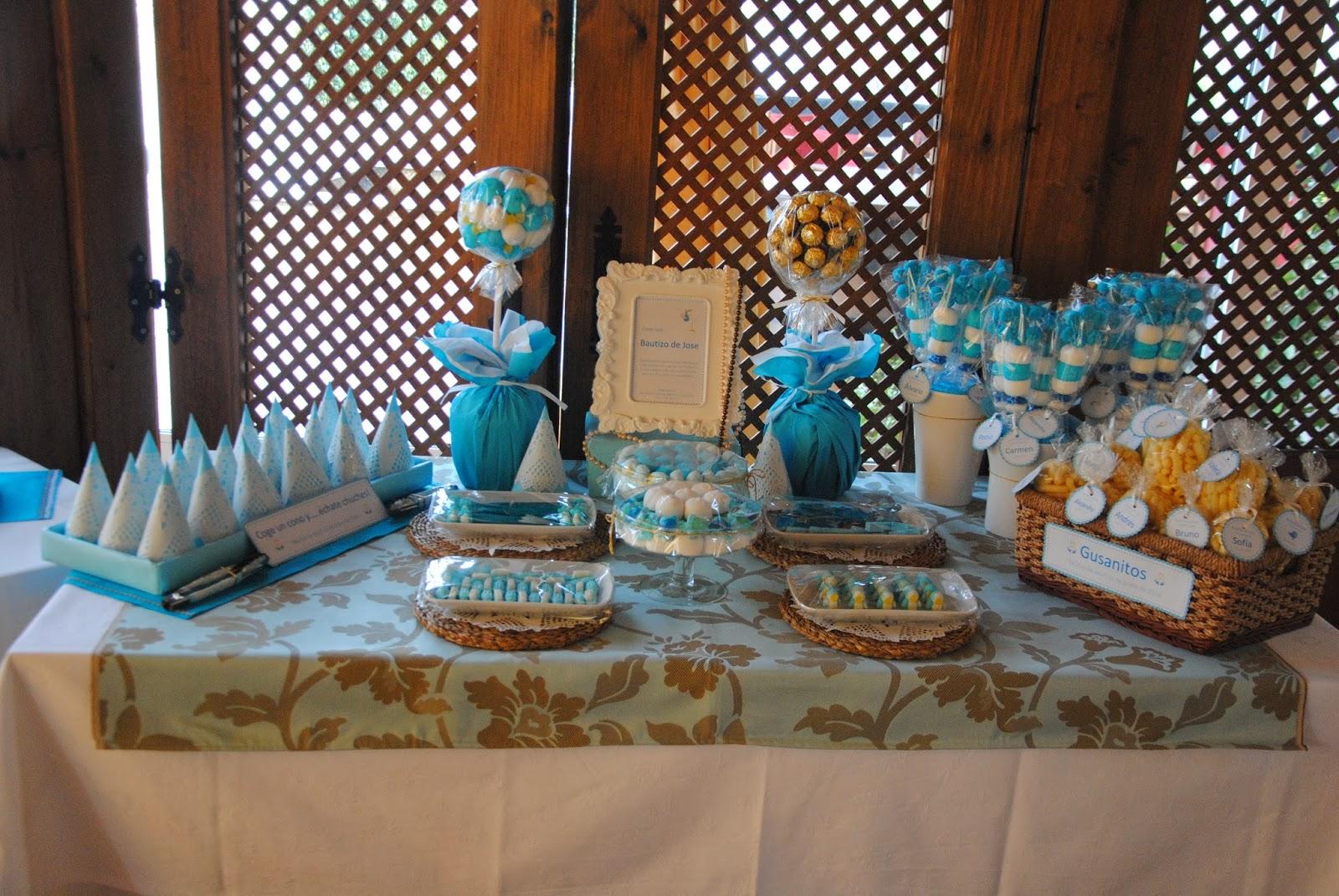 Ana viudez buffet chuches bautizo de jose - Mesa de chuches para bautizo ...