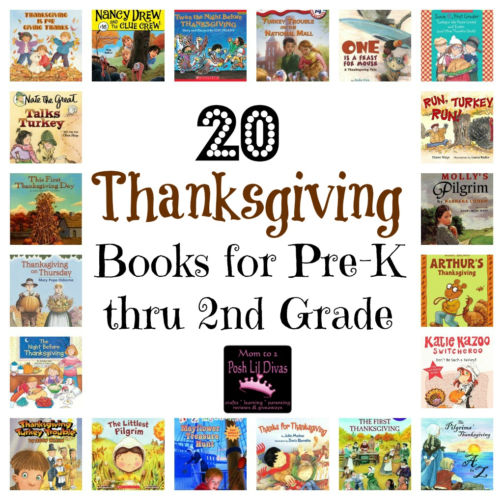 Mom To 2 Posh Lil Divas 20 Thanksgiving Books For Kids In Pre K