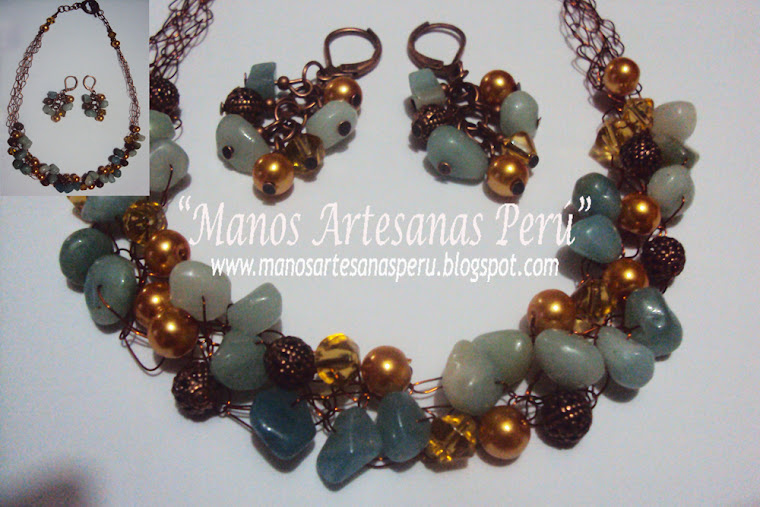 NEW!!! Mediterranean Dream_necklace and earrings
