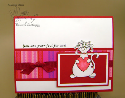 Picture of handmade You are Purr-fect for Me Moxie Card