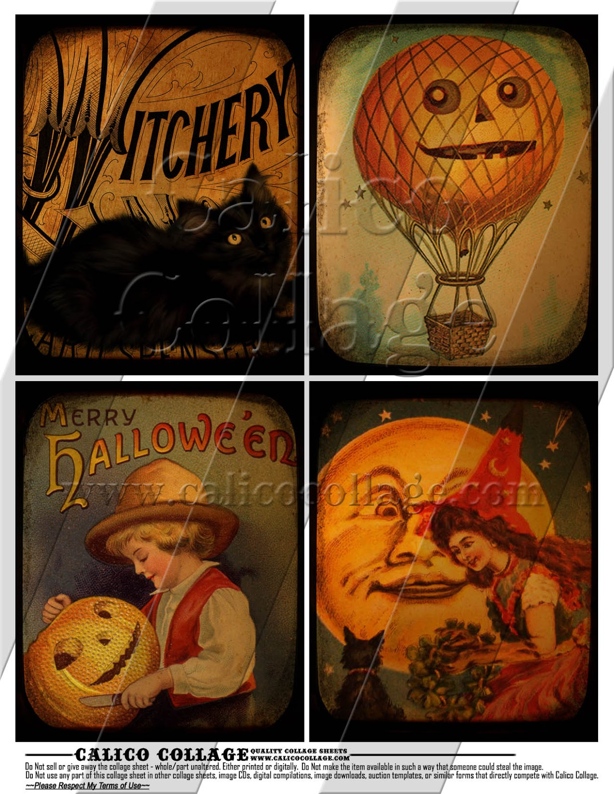 It is an image of Sweet Vintage Halloween Printable