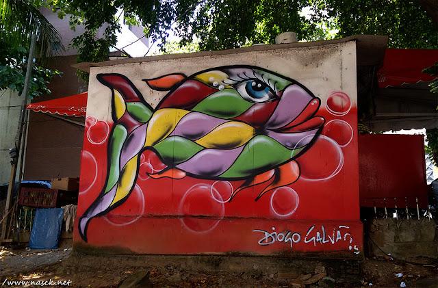 Grafite do Diogo Galvão na Pituba/Salvador/Bahia (Foto: Nasck)