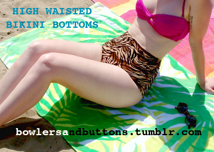 1950's Sewing - High Waisted Bikini Bottoms