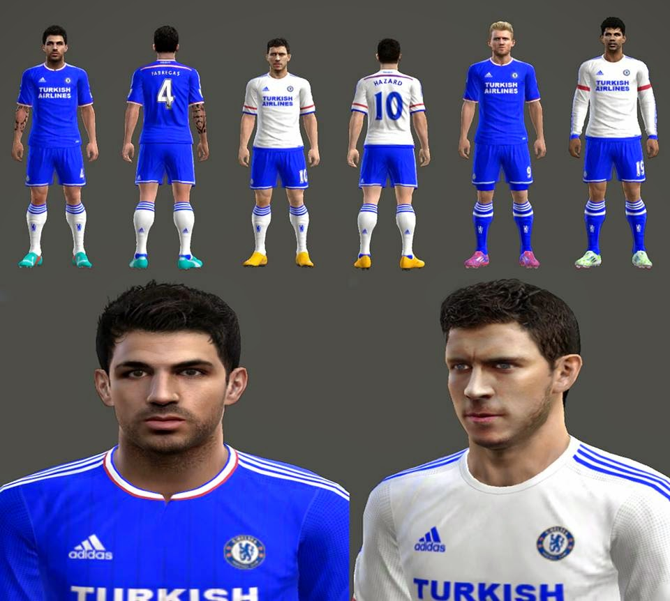 PES-MODIF: PES 2013 Chelsea 2015/2016 Kits Leaked by AFR
