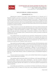 HUIDA DE ESPAÑA DEL BORBON JUAN CARLOS I COMUNICADO DE C.T.A.
