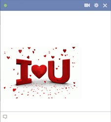 I Heart U Emoticon