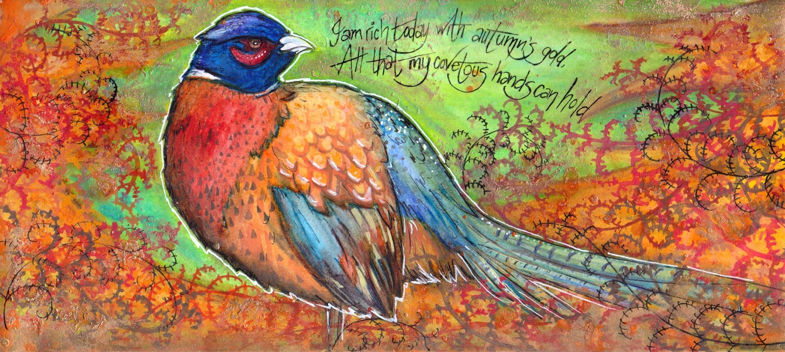 http://artyshroo.blogspot.co.uk/2013/11/a-pheasant-day-out-challenge-response.html