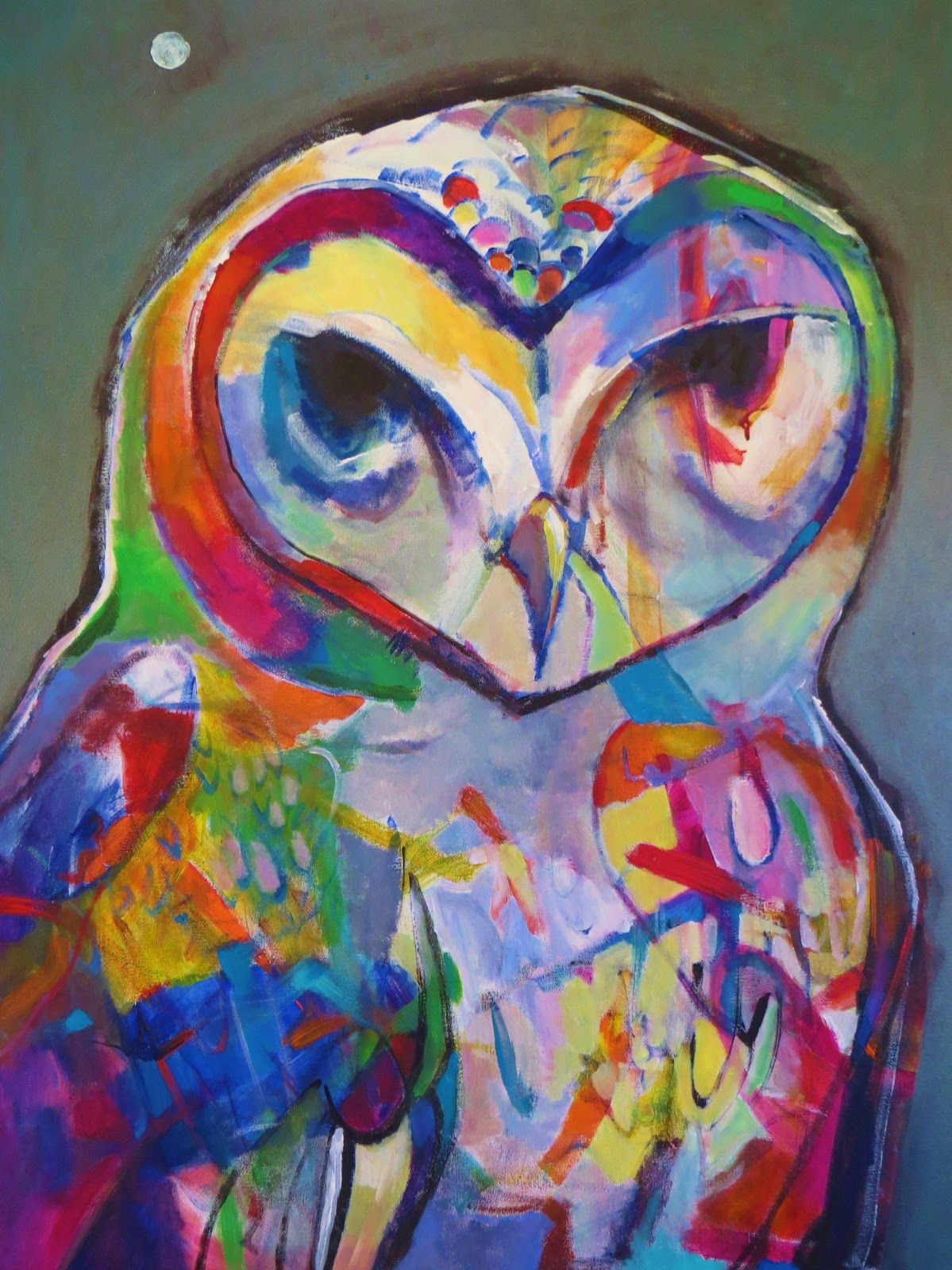Daily Painters Abstract Gallery: Abstract Acrylic Owl ...