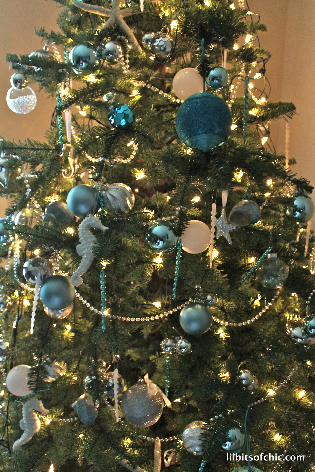 my ocean themed christmas tree