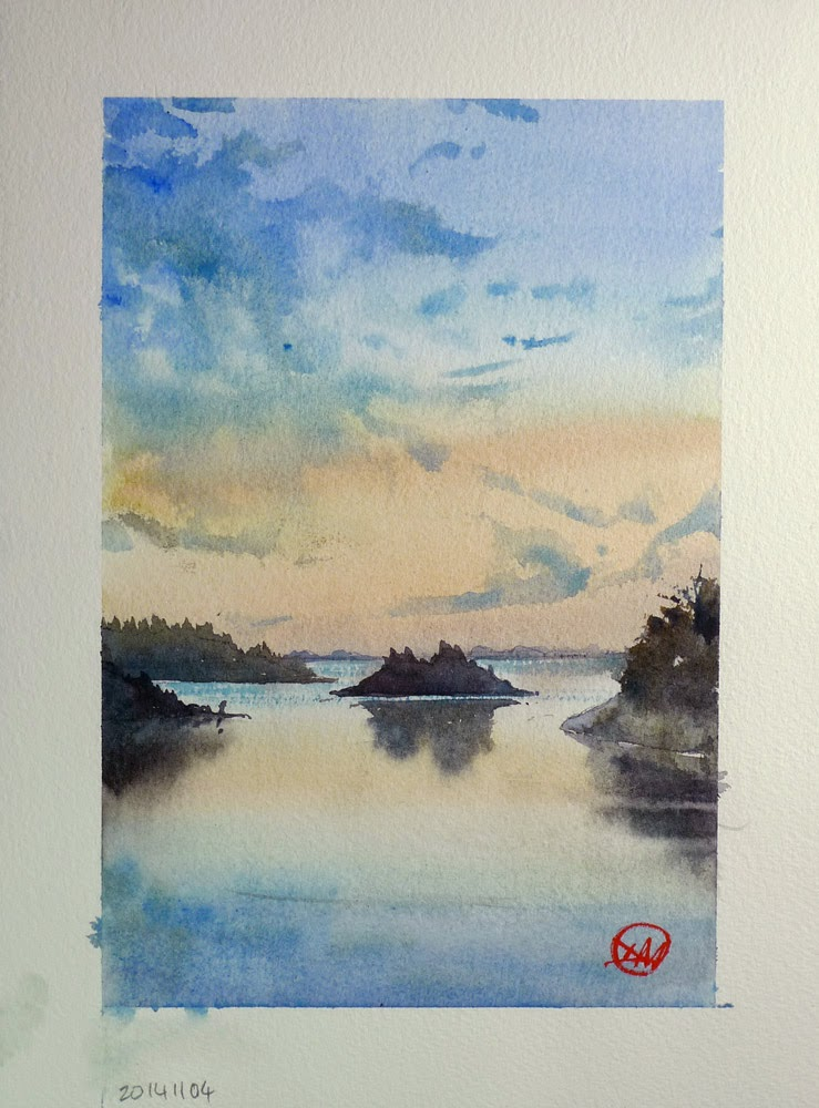 Sunset in the archipelago by David Meldrum