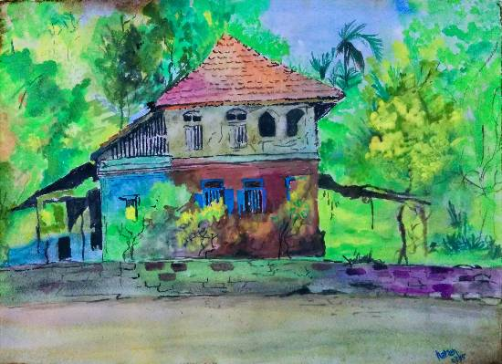The Place, painting by Narendra Gangakhedkar (part of his portfolio on www.indiaart.com)