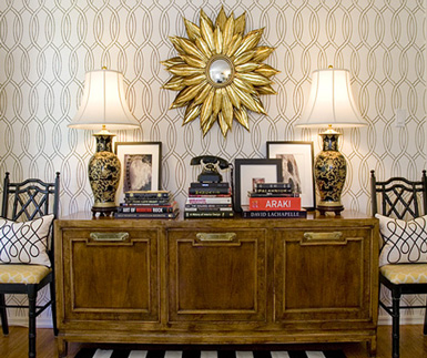 belle maison: Styling 101: Accessorizing Console Tables