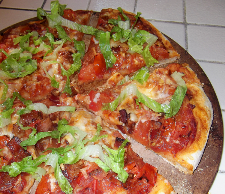 Bacon, Tomato and Arugula Pizza from Cooking Light Magazine, October ...