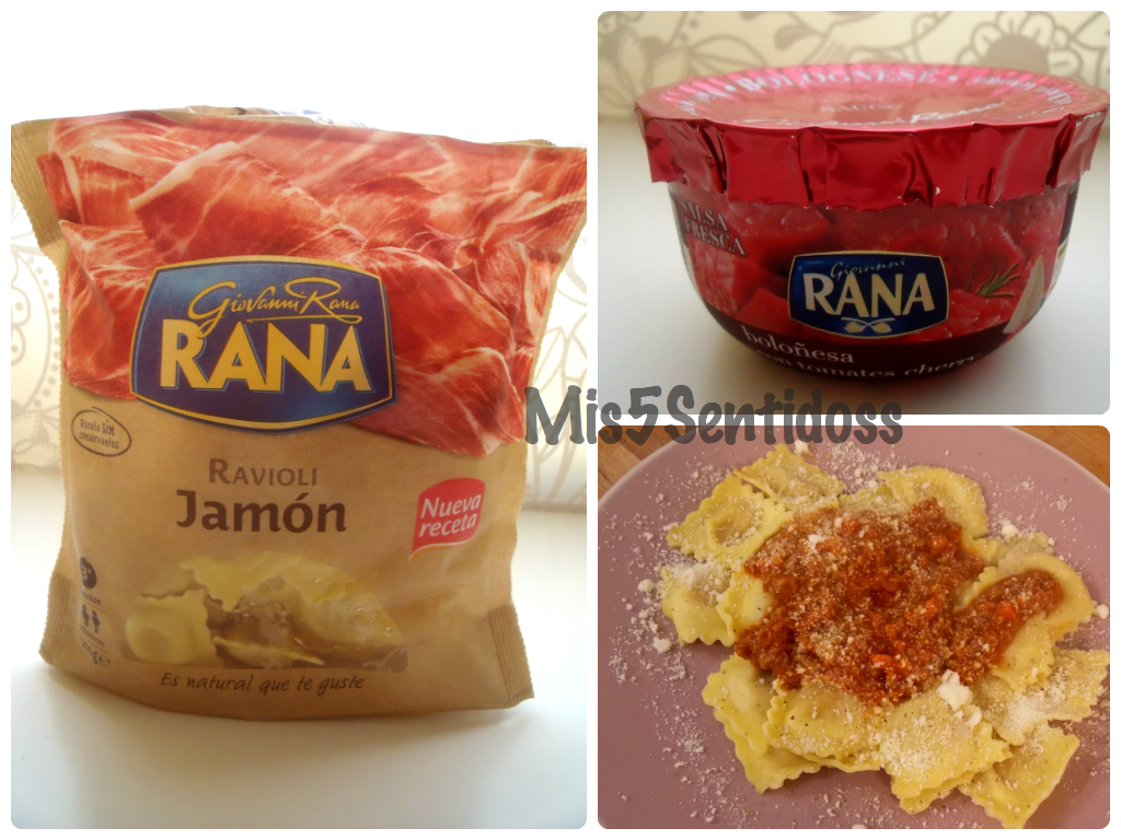 Giovanni Rana Ravioli de jamón y salsa boloñesa