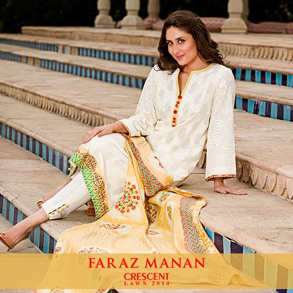 Faraz Manan Crescent Lawn 2014 kareena kapoor