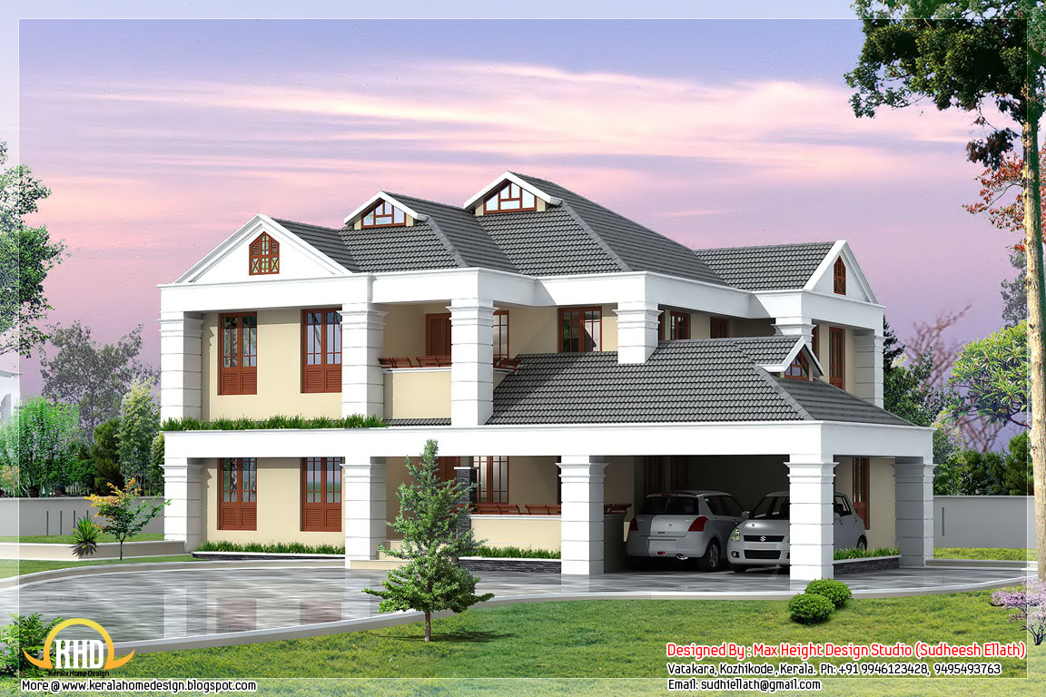 3 beautiful kerala home elevations kerala home design for Home designs in kerala