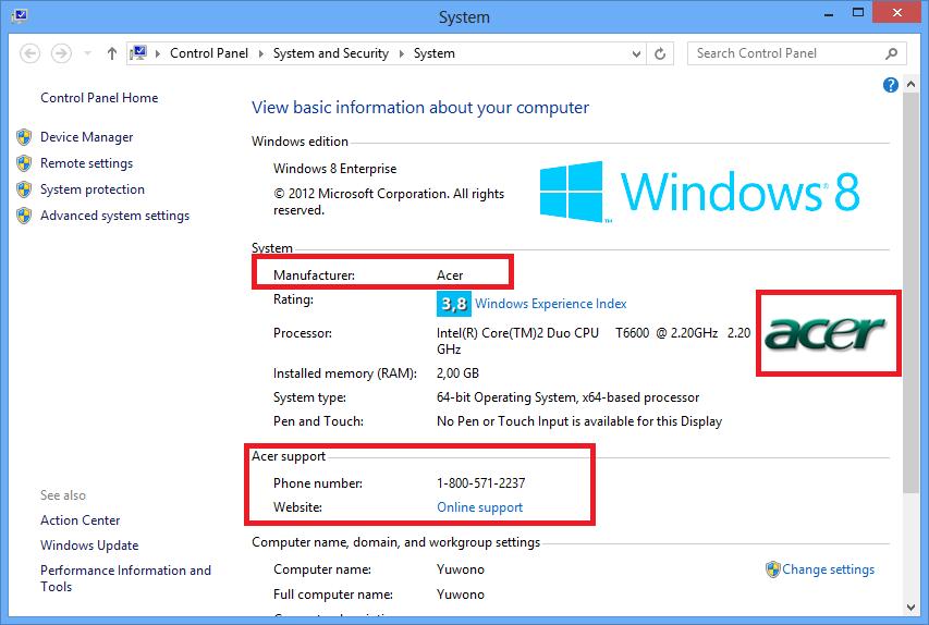Anak Rantau Add Logo And Brand Windows 8 Oem Information