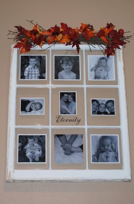 small town craft fair old window picture frame