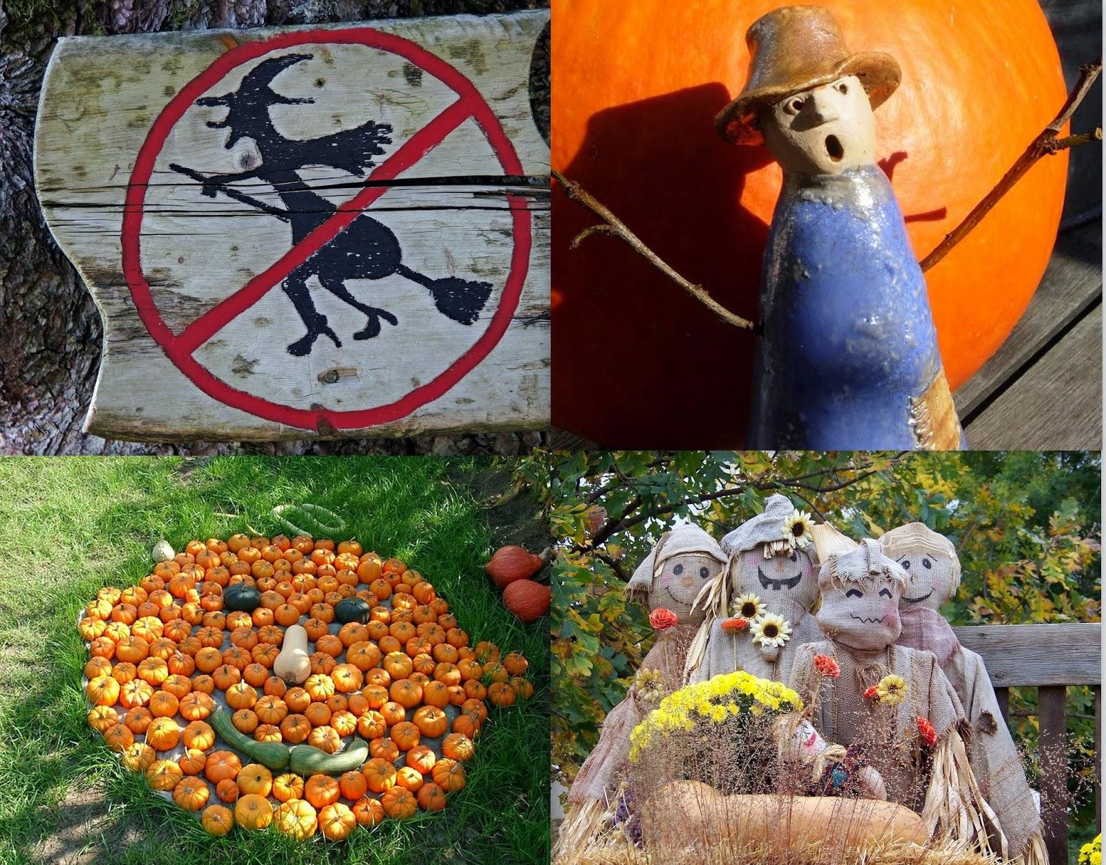 Herbst und Halloween Gartendekoration