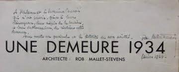 Dédicace de Mallet-Stevens