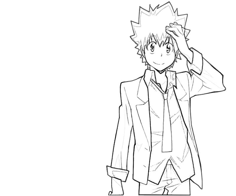 printable-tsunayoshi-sawada-flame-power_coloring-pages