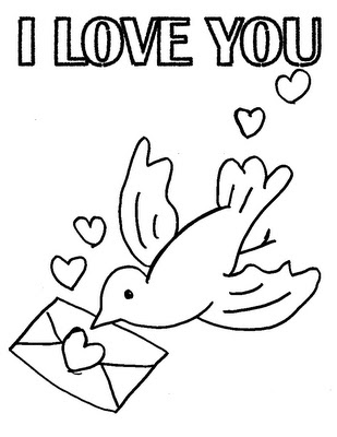 I Love You Printable Kids Coloring Pages