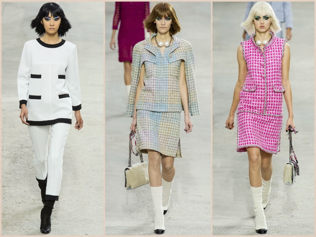 chanel,sfilate, parigi fashion week, collezione primavera estate 2014, abiti, completi