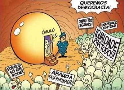 CHISTE GRÁFICO: ESPERMATOZOIDES EN HUELGA