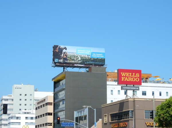 SoFi Pre finance your first film billboard
