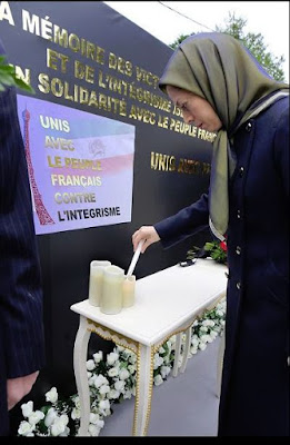 Maryam Rajavi, paying tribute to victims of #ParisAttacks – Auvers-sur-Oise, Nov.16,2015