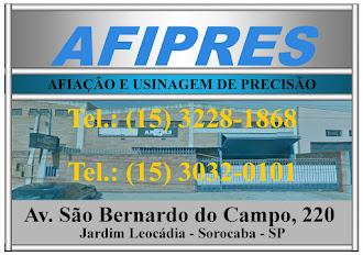 AFIPRES AFIAÇÃO E USINAGEM DE PRECISÃO Av. São Bernardo do Campo, 220   Jd Leocádia - CEP: 18085430