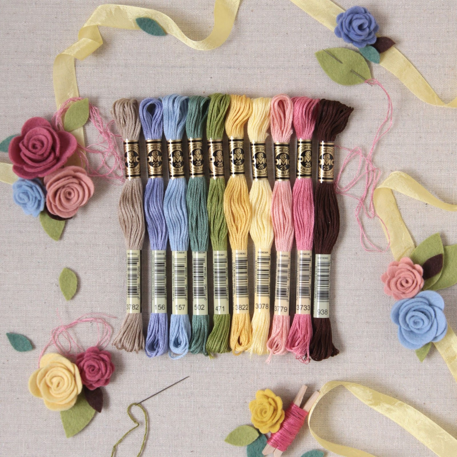 Benzie a fanfare of felt embroidery floss