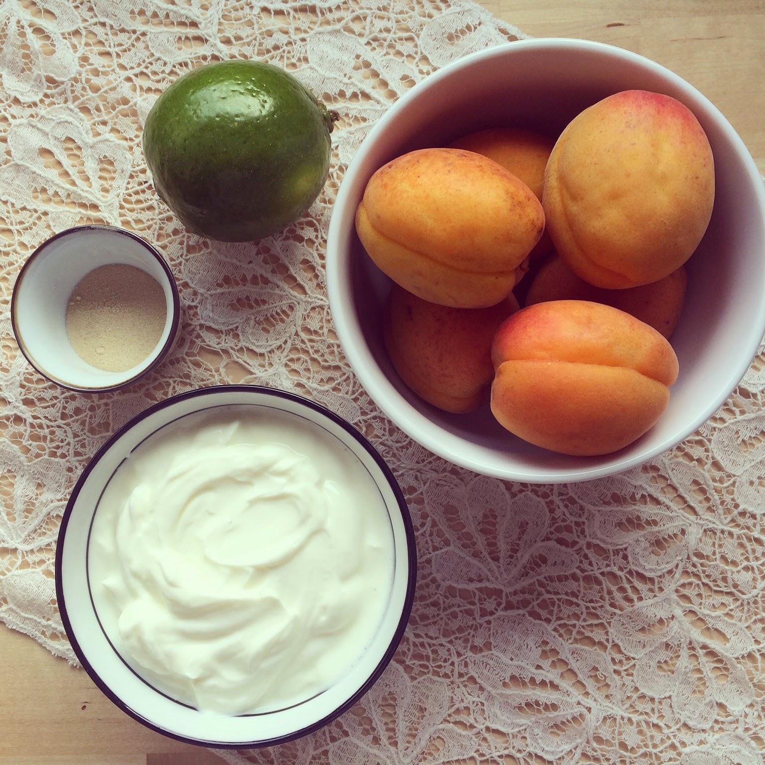 mousse abricots citron vert