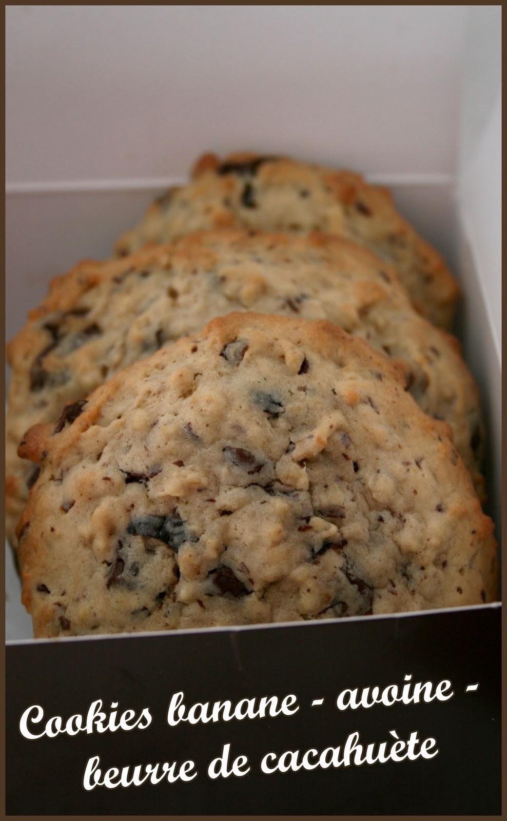 Cookies pour affronter le froid banane avoine beurre - Cookies beurre de cacahuete ...