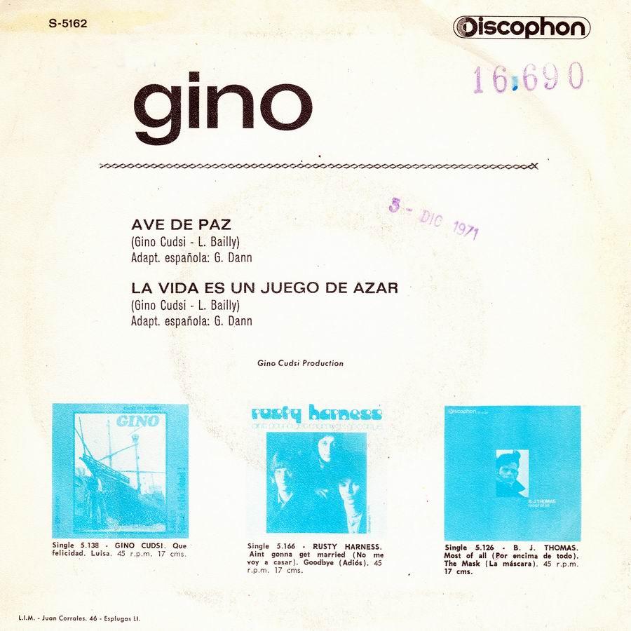 Gino Cudsi Gino Con Catherine Spaak - Io Non T'Amo Più - Pafff...Bum - 1-2-3 - Ieri