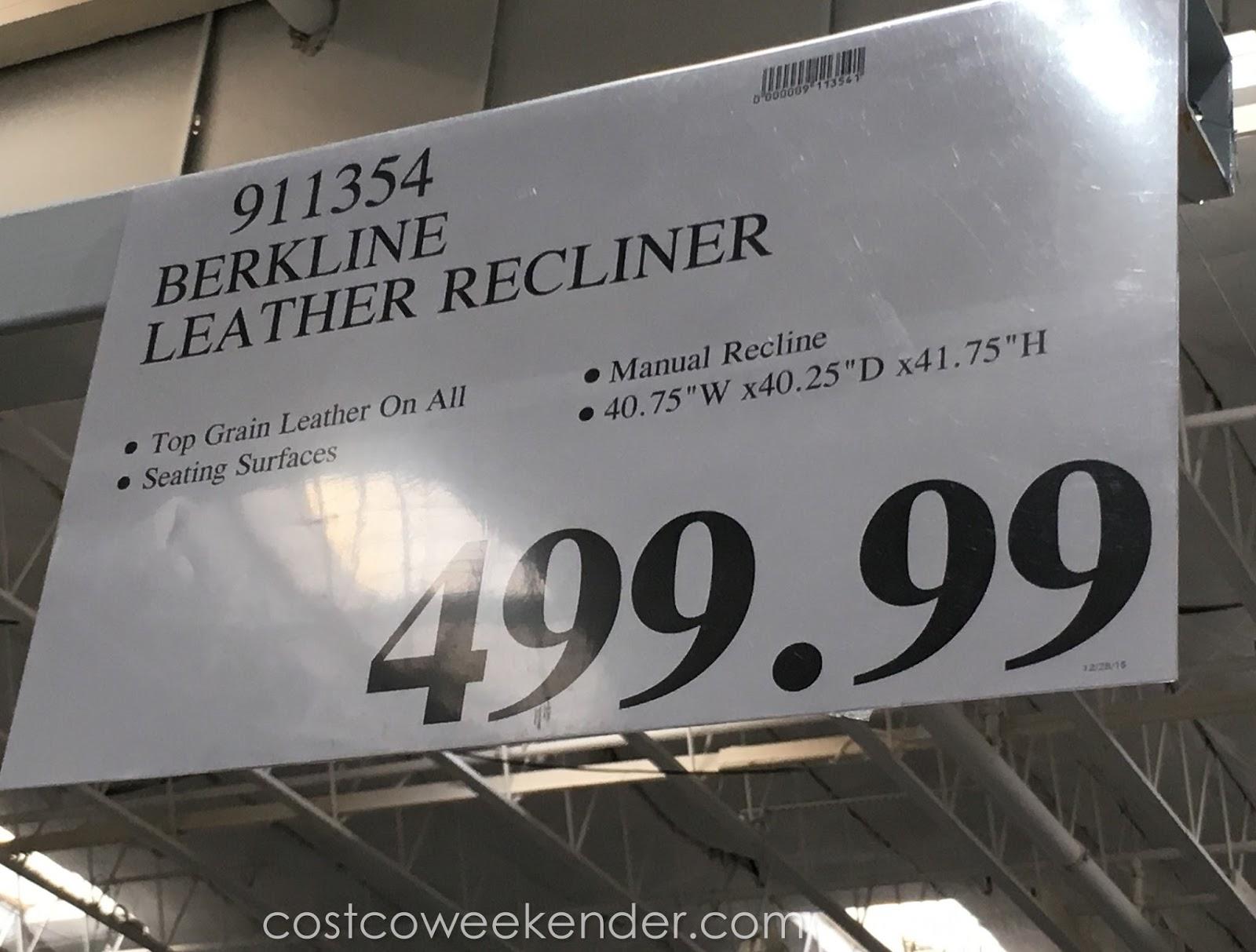 Berkline Leather Rocker Recliner Chair