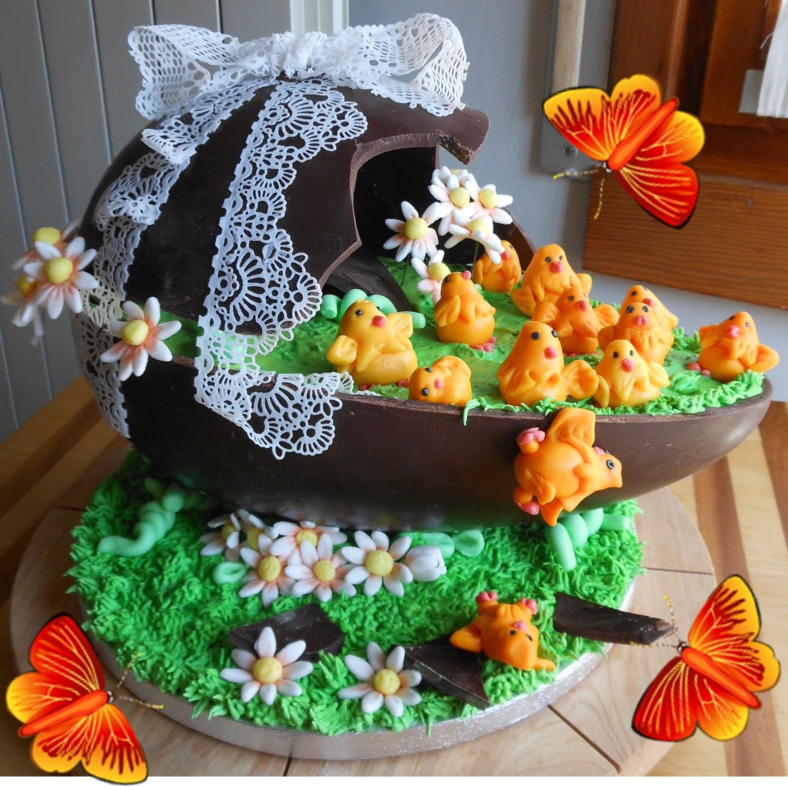 Rilassati e decora torta nell 39 uovo di pasqua - Decorazioni per uova di pasqua ...