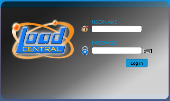 LoadCentral Webtool Log-in, e-LoadBiz