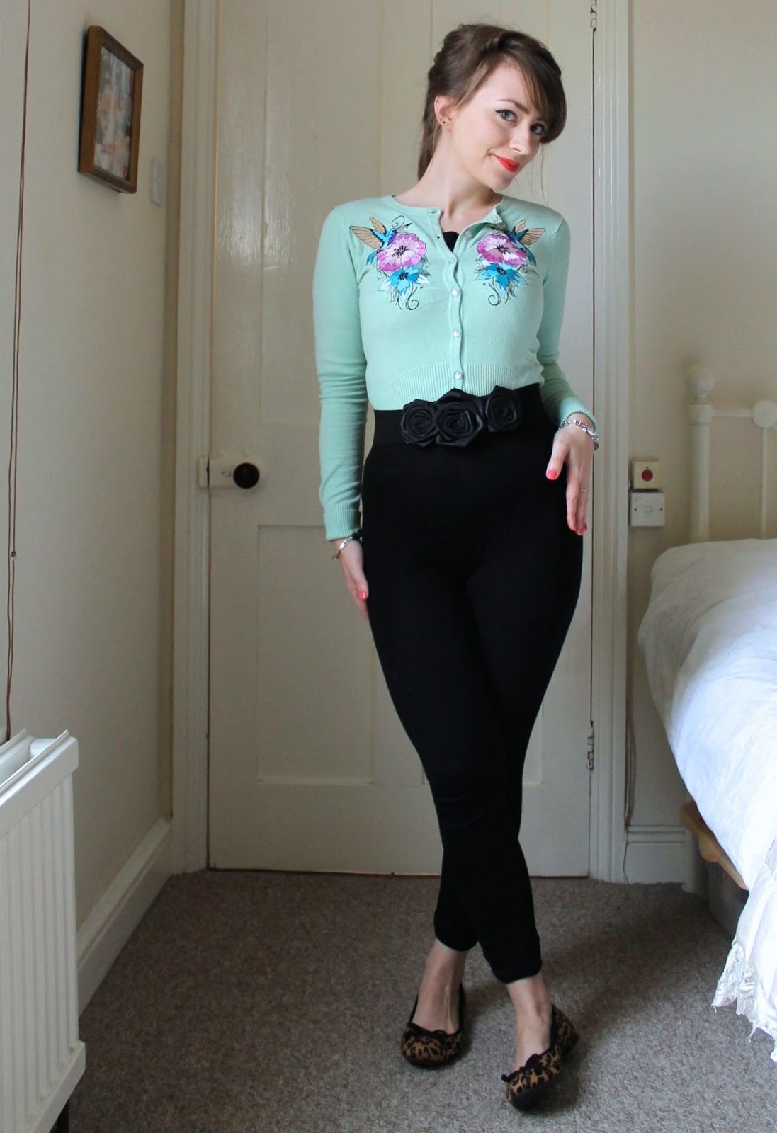 Vintage Style 50s Casual Via Modern Leggings Cici Marie