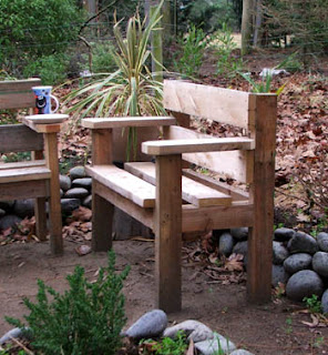Simple Rustic Garden Furniture