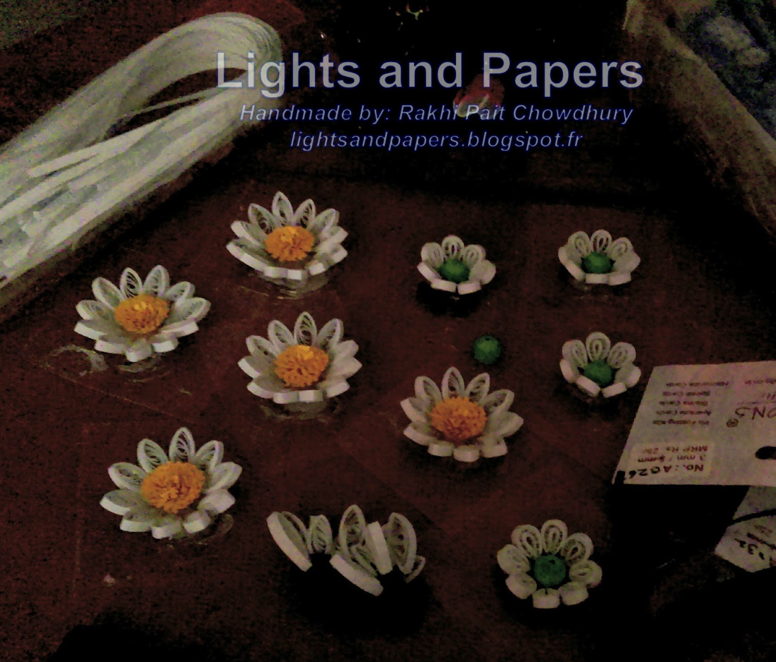 Lights And Papers Quilled Photo Frametheme Brown And White