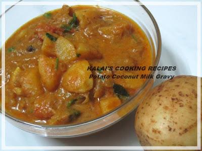 Chettinad Potato Coconut Milk Gravy | செட்டிநாடு உருளைக்கிழங்கு தேங்காய் பால் கிரேவி