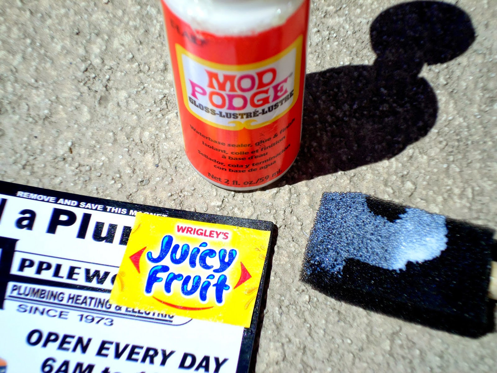 Summer Fun Juicy Fruit Gum Upcycled Wrapper Magnet Glue #JuicyFruitFunSide #shop