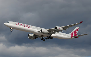 a340-600 qatar airways, airbus a340-600 qatar airways, qatar airways, longest passenger aircraft