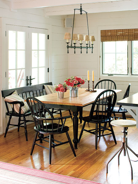 New home interior design dining tables - Cottage dining room table ...