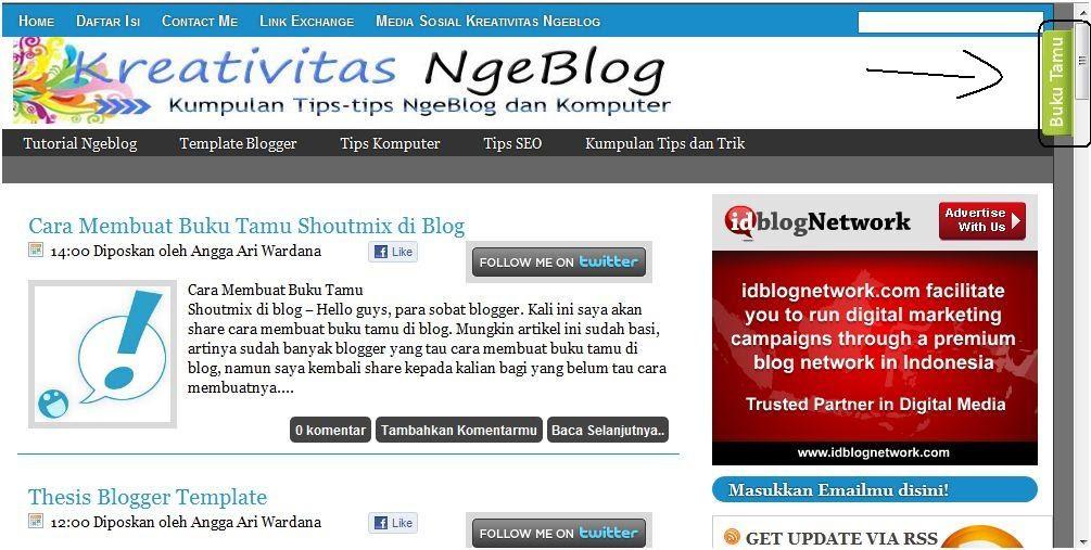 Cara Membuat Buku Tamu Tersembunyi Di Blog ~ Azzam Heranur